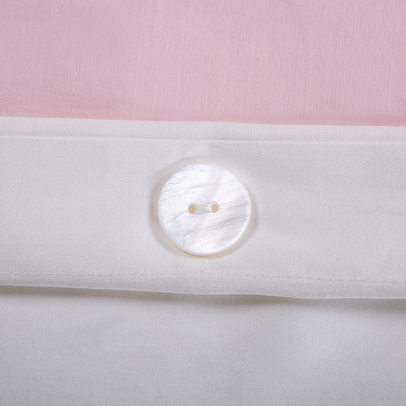 Long Staple Cotton Bed Sheet Patch Border Shiny Satin Pink Color 3