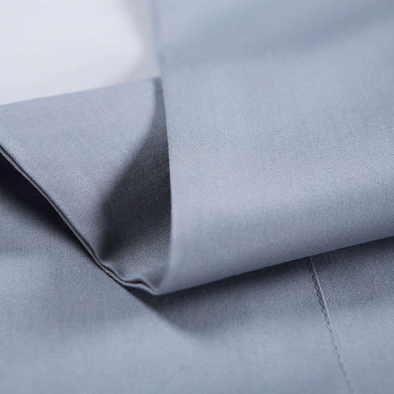 Soft Luxury Satin Long Staple Cotton Bedding Set Dusty Blue 4