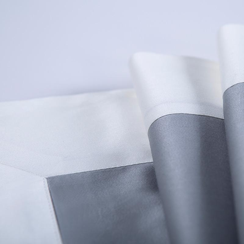 Soft Luxury Satin Long Staple Cotton Bedding Set Dusty Blue 5