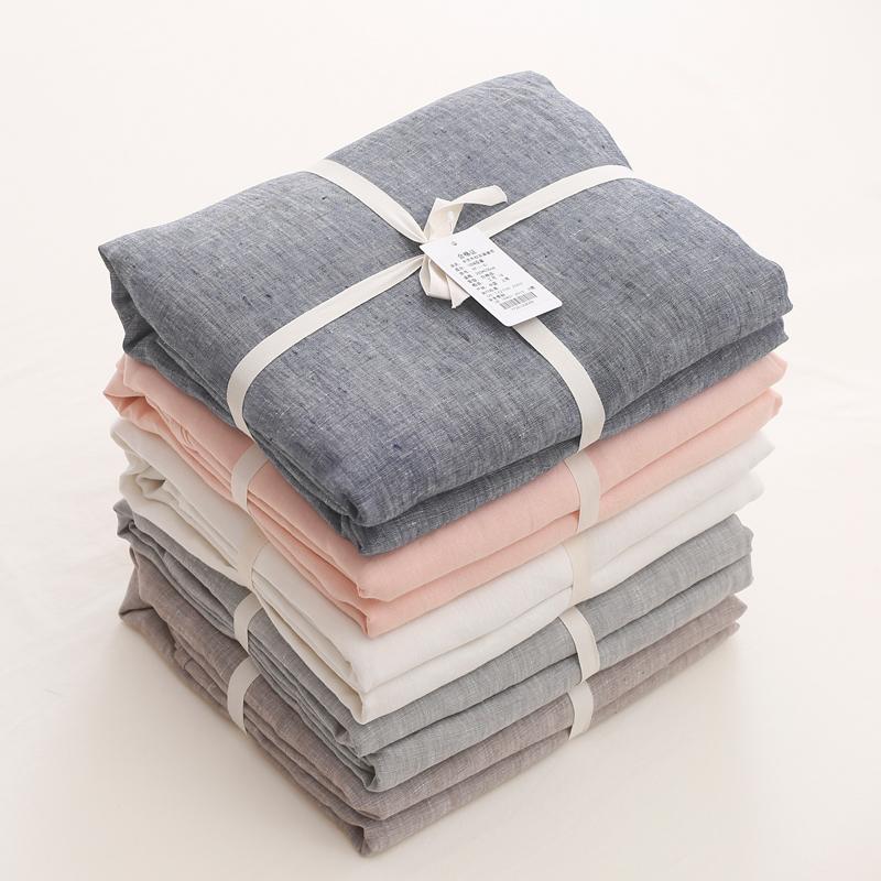 French Linen Bedding Set from OEM Manufacturer Dark Grey Color 4