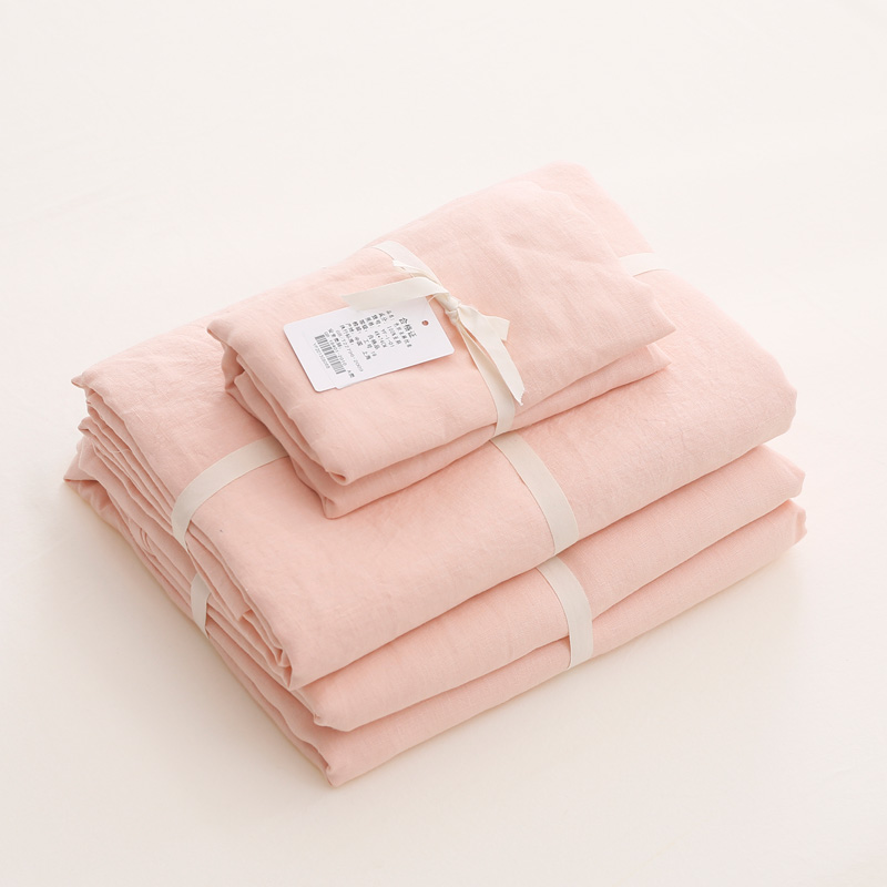 Customized French Linen Duvet Cover, Flat Sheet, Pillowcases for Private Labels 3
