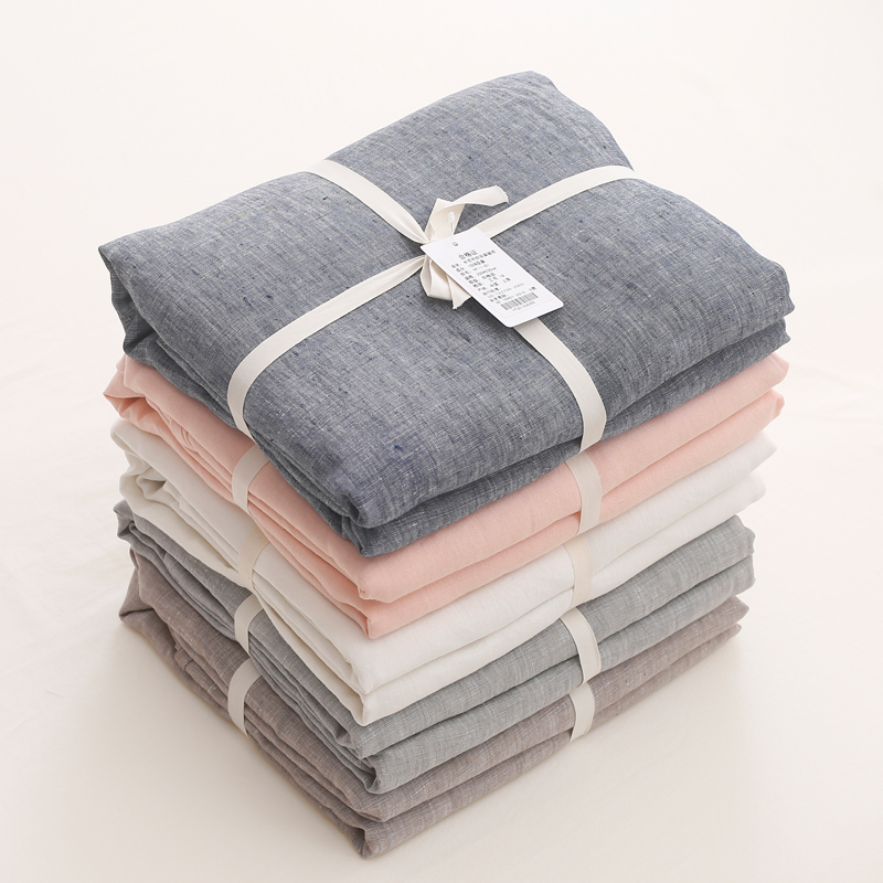 Customized French Linen Duvet Cover, Flat Sheet, Pillowcases for Private Labels 4
