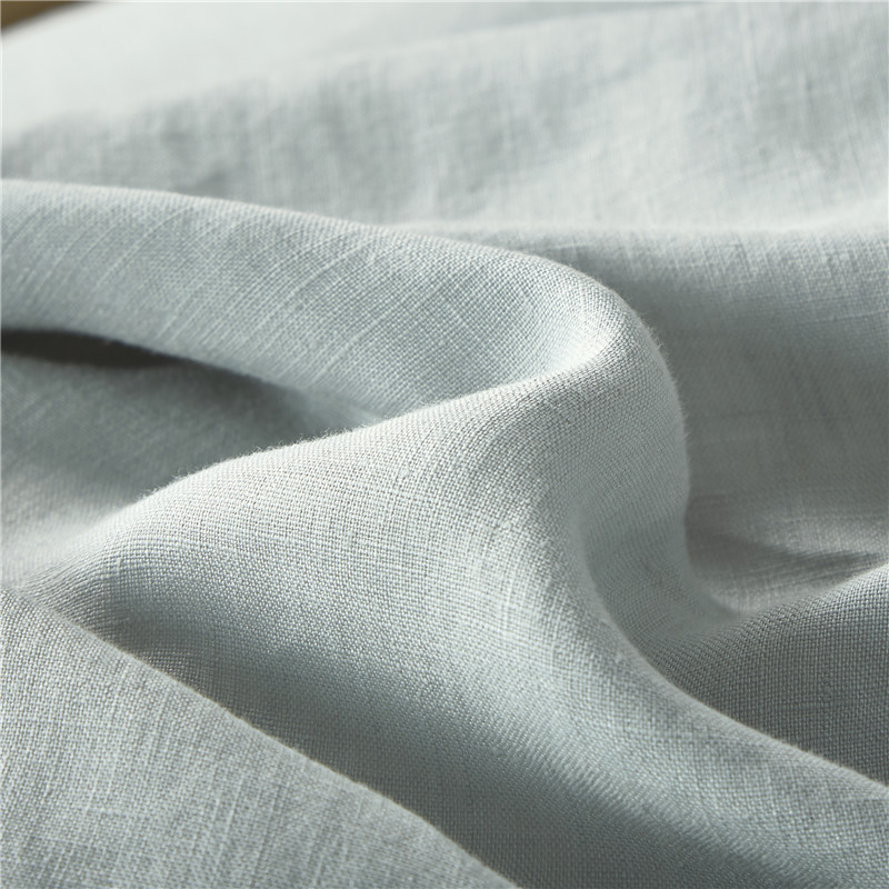 Pure Stone Washed French Linen Sheets Set 100%Natural Linen European Flax in Celadon Color 5