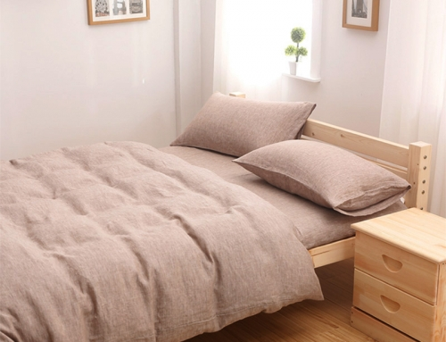 Washed Linen Duvet Cover Camel Color Wholesale Supplier