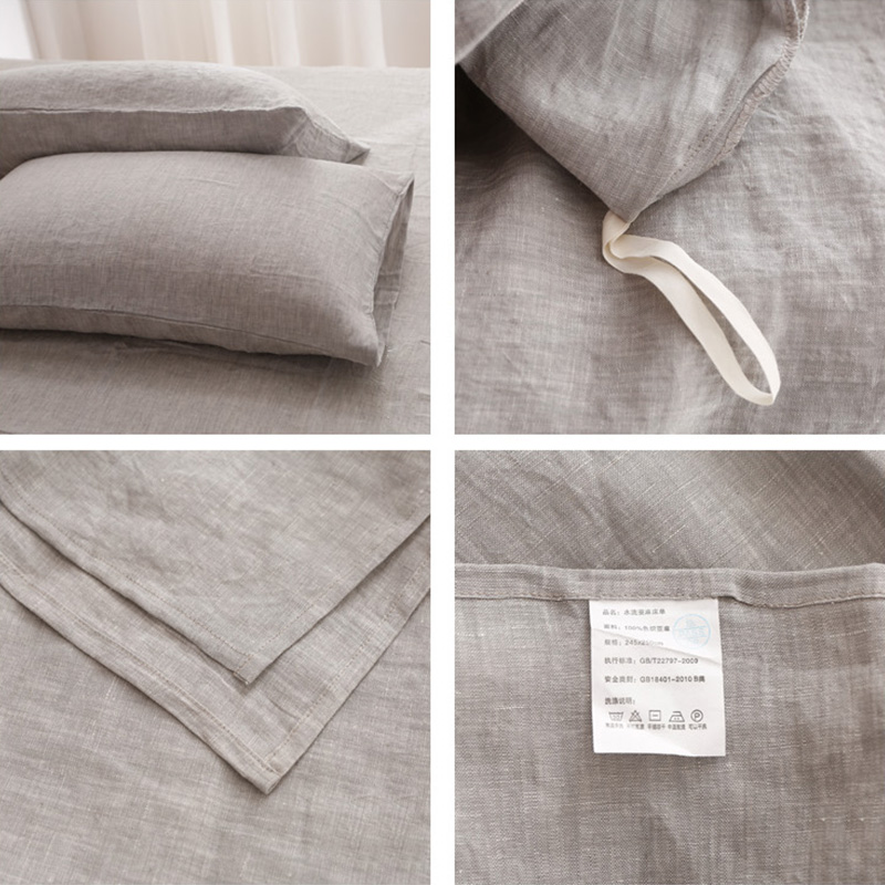 OEM Factory Direct Source Customized Washed Linen Sheet Sets 2