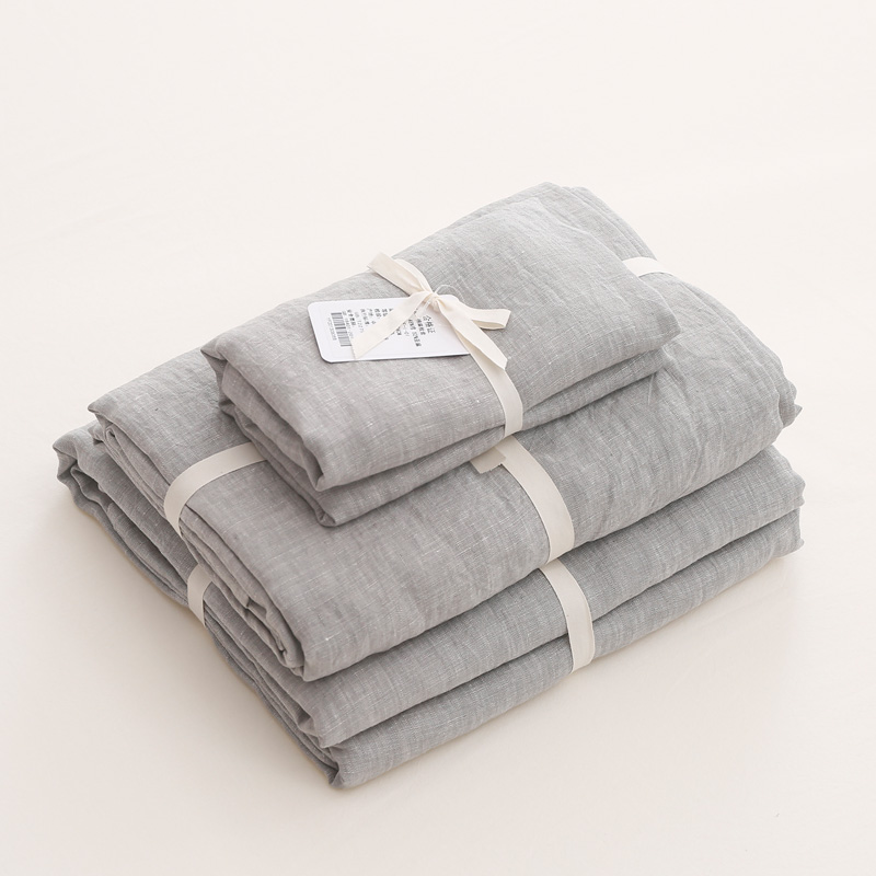 OEM Factory Direct Source Customized Washed Linen Sheet Sets 3