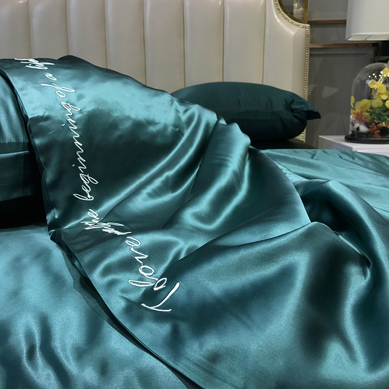 Super Soft and Silky Satin Sheet Set (Solid/Deep Pocket) (Queen, Teal) 4