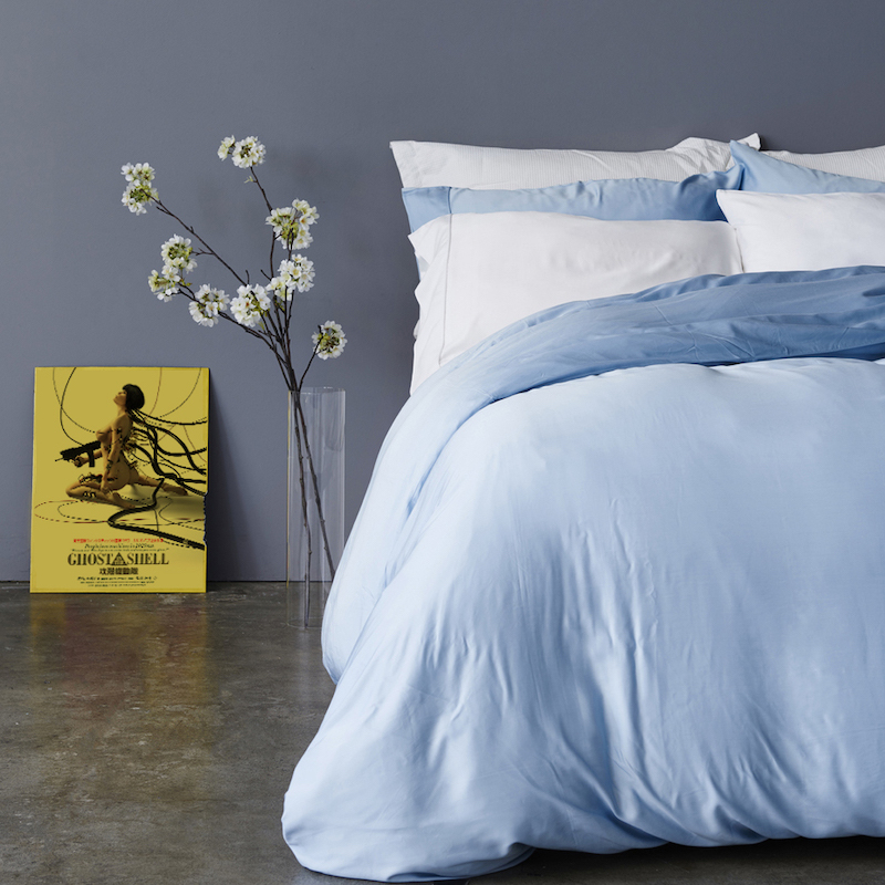 Pure Bamboo Lyocell Sheets Soft Cool Customize Size King Queen Full Twin Sky Color 1