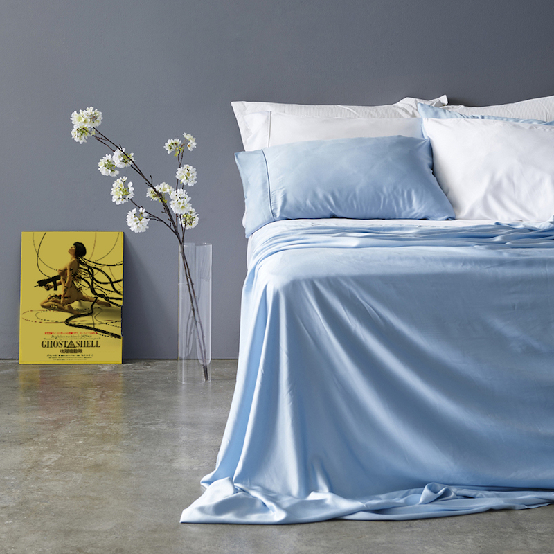 Pure Bamboo Lyocell Sheets Soft Cool Customize Size King Queen Full Twin Sky Color 2