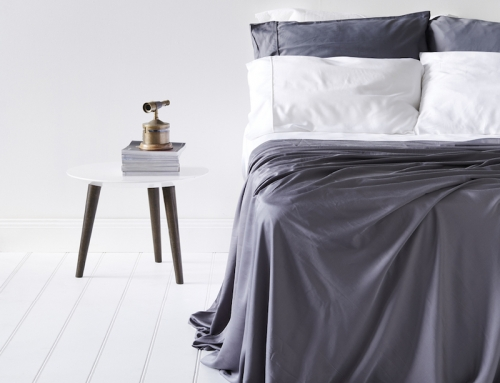 Lyocell Bamboo Sheets 4 Piece Bed Sheet Set – Luxurious Sateen Weave, Slate and Dark Grey
