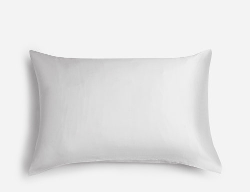 "100% Mulberry Silk Pillowcase for Hair and Skin,with Hidden Zipper,Both Side 19 Momme Silk,600 Thread Count, 1pc (Queen 20""x30"", White)"