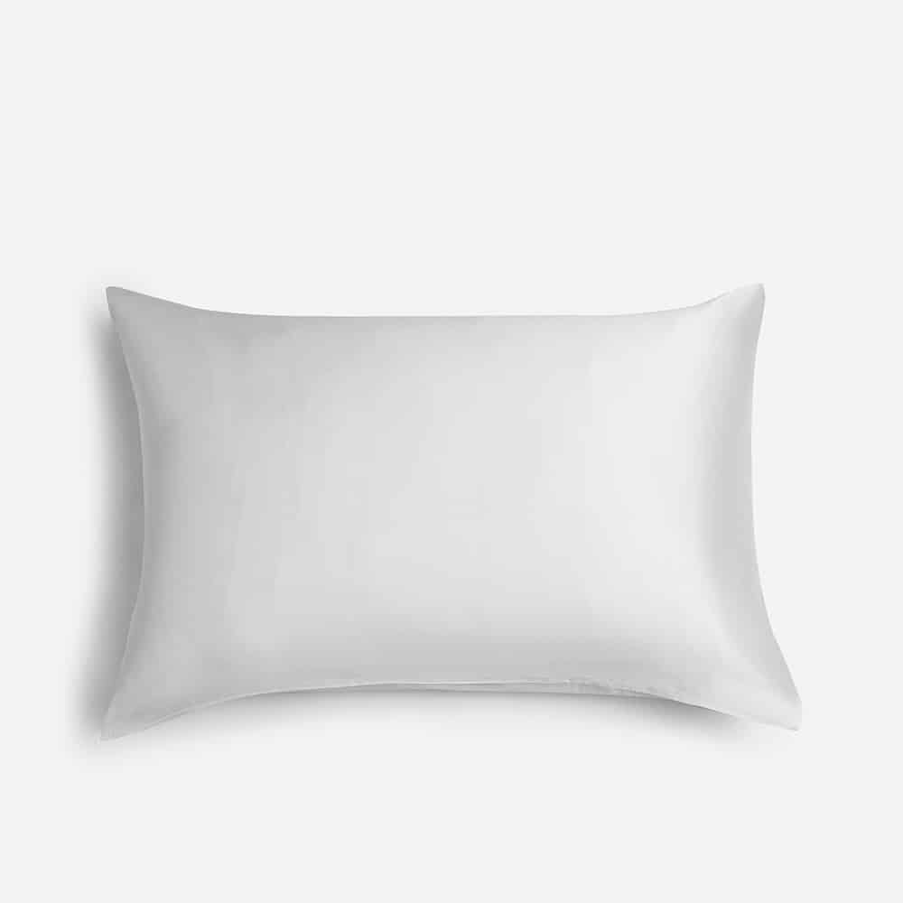 100% Mulberry Silk Pillowcase for Hair and Skin,with Hidden Zipper,Both Side 19 Momme Silk,600 Thread Count, 1pc (Queen 20''x30'', White) 1
