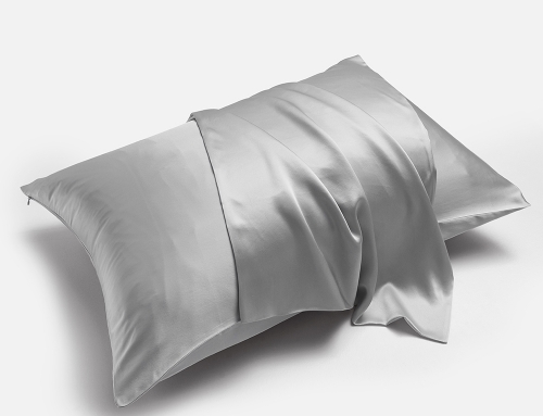 "Natural Silk Pillowcase, for Hair and Skin with Hidden Zipper, 22 Momme, 100% Mulberry Silk, Soft Breathable Smooth Both Sided Silk Pillow Cover (Silver Grey, Standard 20""×26"",1pcs)"
